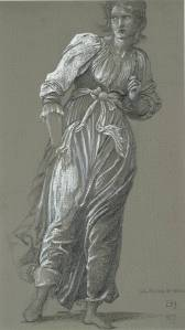 Study of a Standing Woman for 'The Passing of Venus' 1877 by Sir Edward Coley Burne-Jones, Bt 1833-1898