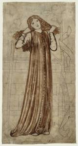 Thisbe 1861 by Sir Edward Coley Burne-Jones, Bt 1833-1898