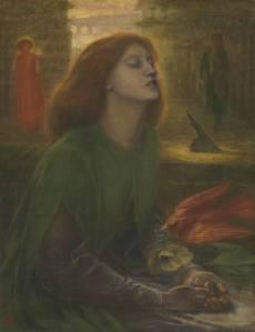 Beata Beatrix circa 1864-70 by Dante Gabriel Rossetti 1828-1882