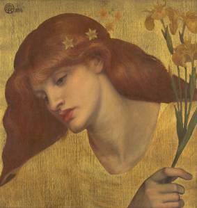Sancta Lilias 1874 by Dante Gabriel Rossetti 1828-1882