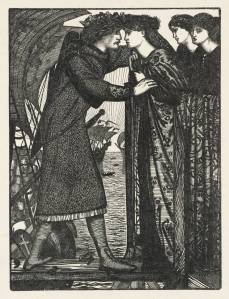 Sigurd the Crusader, engraved by the Dalziel Brothers published 1862 by Sir Edward Coley Burne-Jones, Bt 1833-1898
