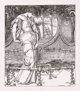 The Lady of Shalott, engraved by J. Thompson published 1857 by William Holman Hunt 1827-1910