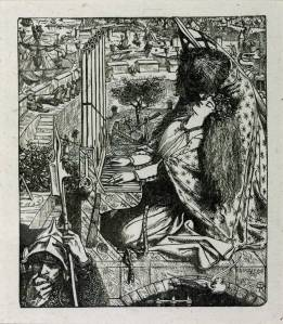 The Palace of Art, engraved by the Dalziel Brothers published 1857 by Dante Gabriel Rossetti 1828-1882